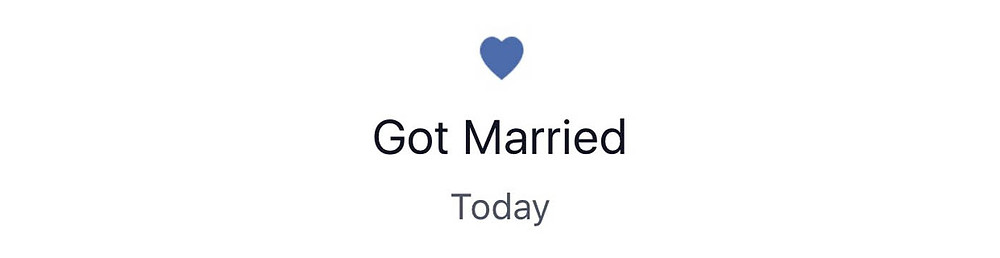 Got Married life event on a Facebook timeline