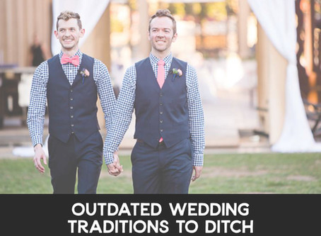 Outdated Wedding Traditions to Ditch