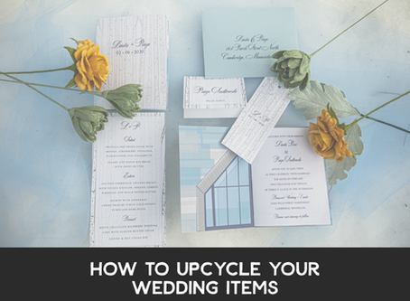 How to Upcycle Your Wedding Items