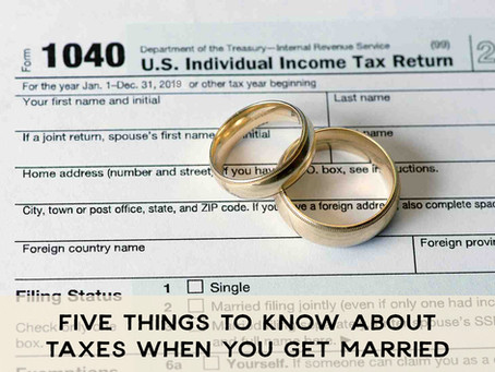 5 Things to Know about Taxes When You Get Married