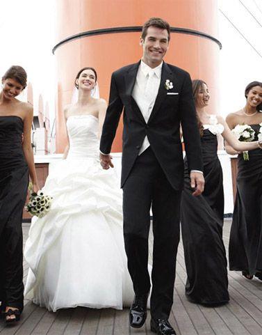White Tie Wedding Bride Groom