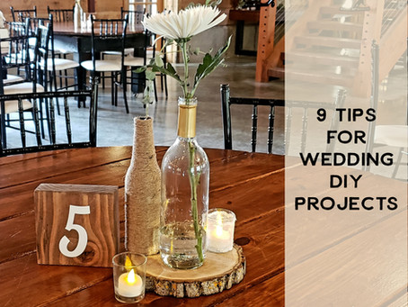9 Tips for Wedding DIY Projects