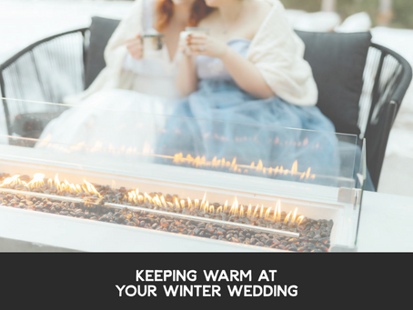 Keeping Warm at Your Winter Wedding
