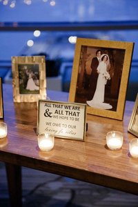 Memorial Table featuring loved ones