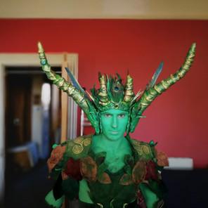 Green Man costume by Emily Martinelli, Beltane Fire Festival 2018