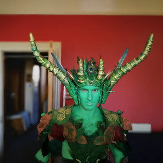 Green Man costume by Emily Martinelli, Beltane Fire Festival 2018