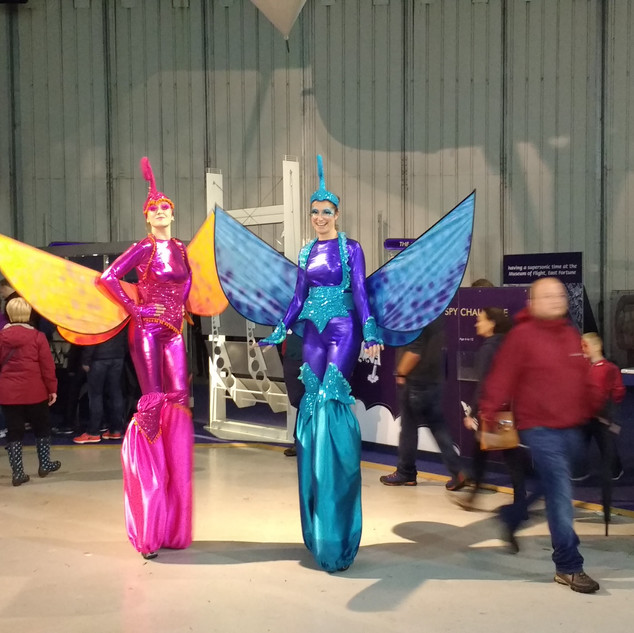 Butterfly Stiltwalkers by Emily Martinelli, Scotland's National Airshow 2017
