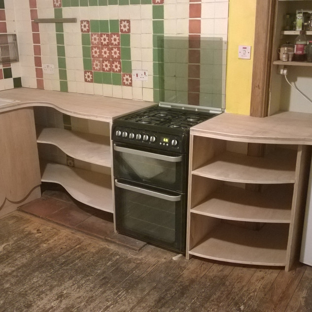 Plywood kitchen, collaboration with Tim Vincent Smith 2016