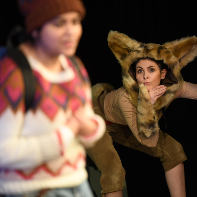 Wildcat costume by Emily Martinelli for Sno Snow, Scottish Youth Theater 2018