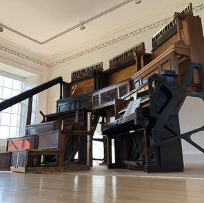 Pianodrome wedge, built in collaboration with #pianodrome team for Inverleith House Residency 2018