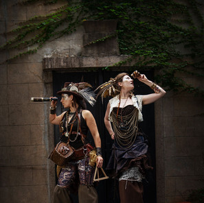 Steampunk Investigator costumes made in collaboration with Delighters for  Shanghai-Jing'an Modern Drama Valley 2018