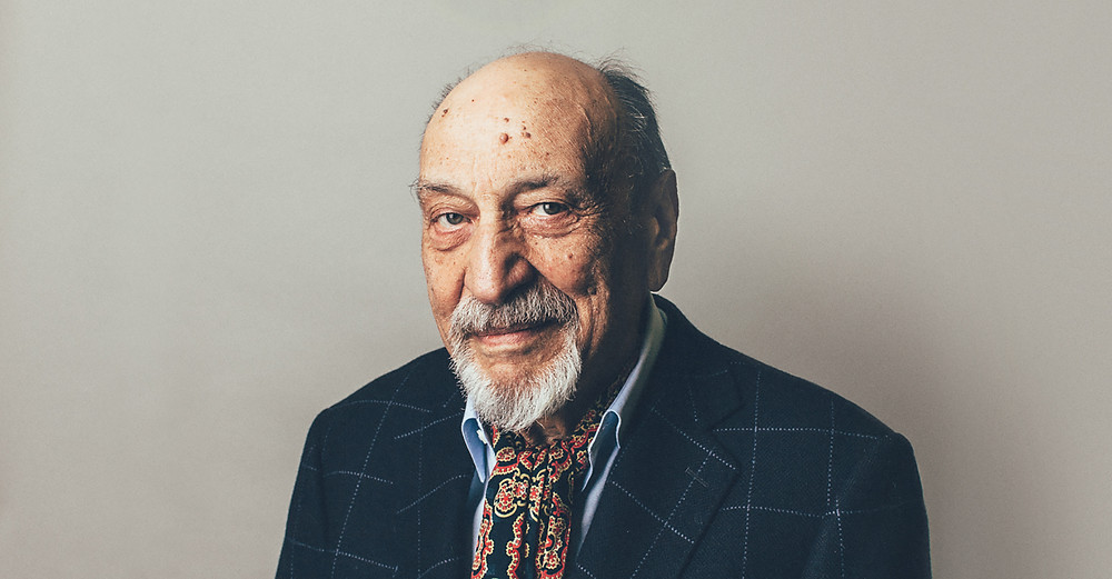 Photograph of w:Milton Glaser taken in his office in NYC in May 2003