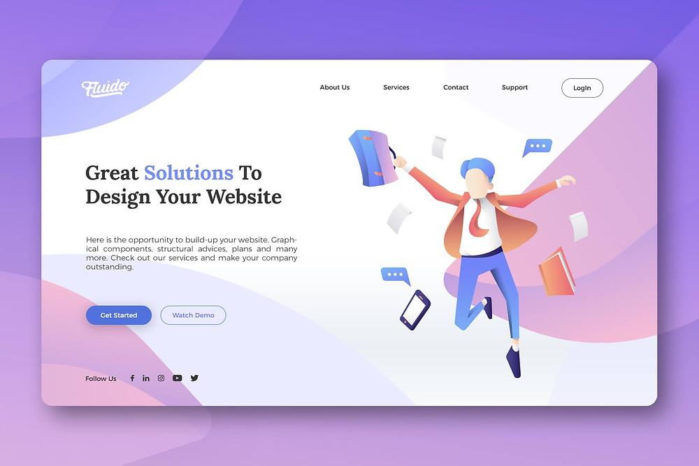Website hero header Design 4