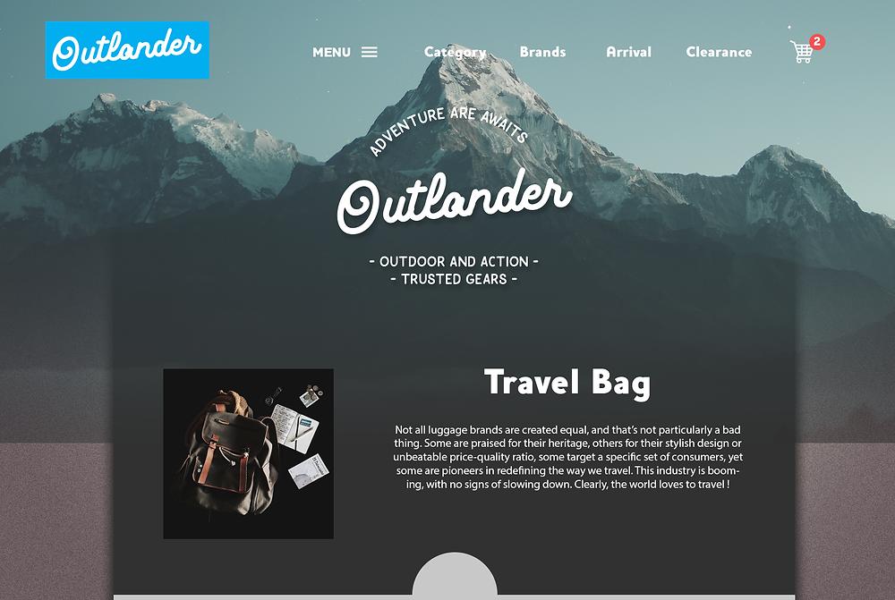 Website hero header Design 3