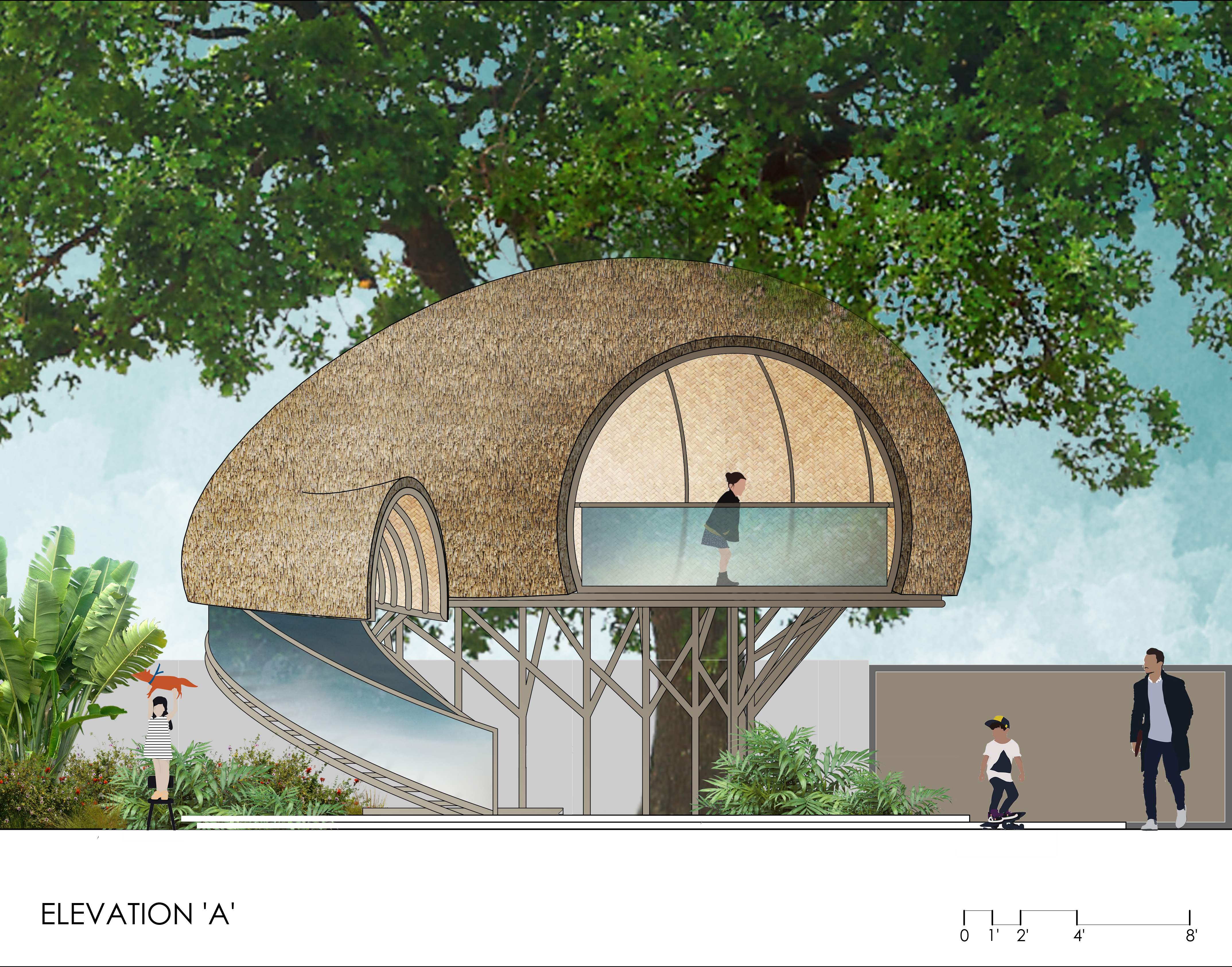 TREE HOUSE_ELEVATION A