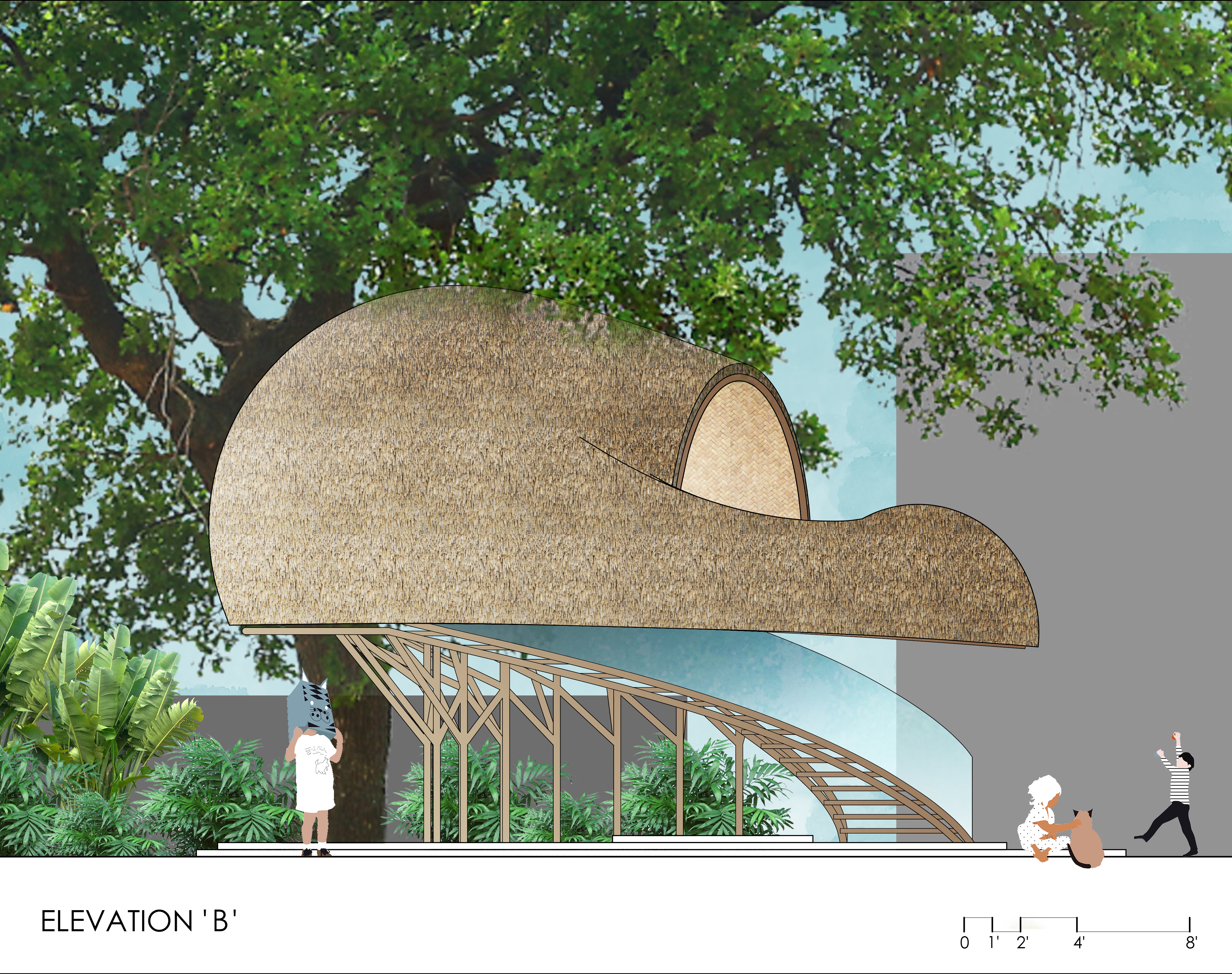 TREE HOUSE_ELEVATION B