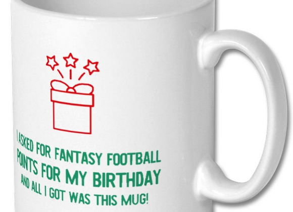 Fantasy Football Birthday Mug