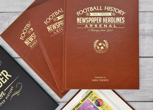 A3 Leatherette Cover Football Newspaper Book