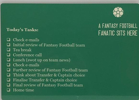 """Fantasy Football Desk """"To Do List"""""""