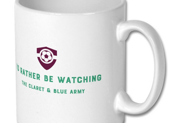 Football Mug - Claret & Blue Army
