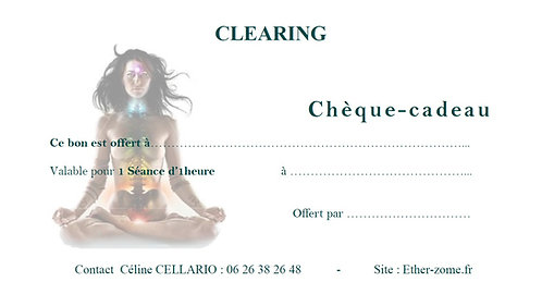 Cheque Cadeau CLEARING 1Séance