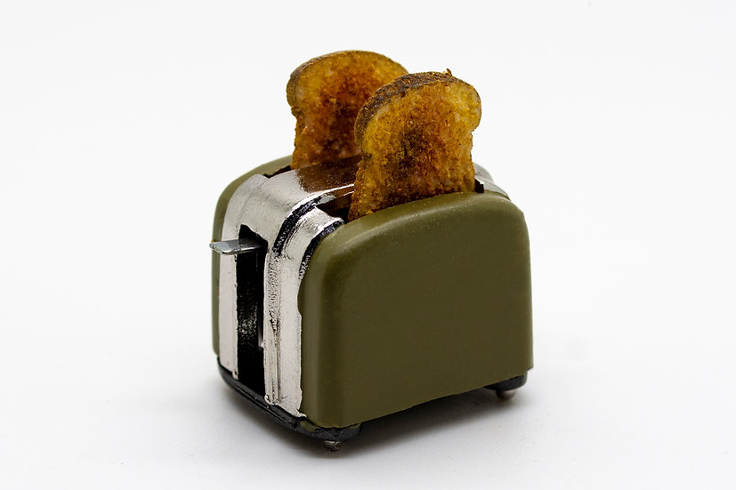 green filled toaster