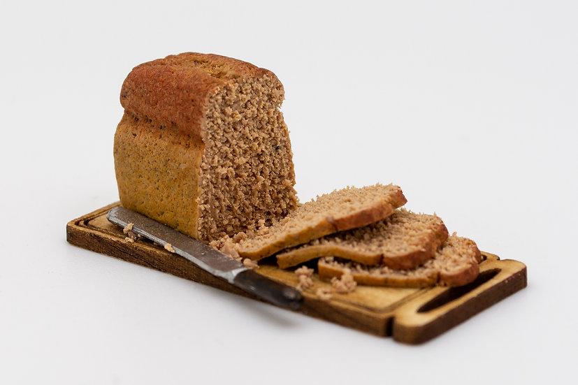 brown wheat bread board
