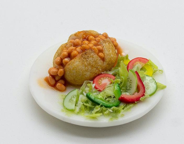 jacket potato with beans