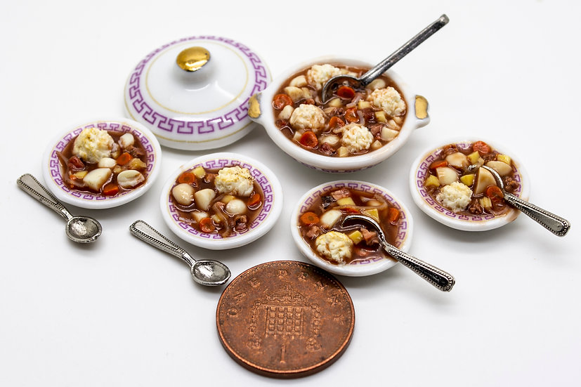 beef stew & dumplings meal for 4