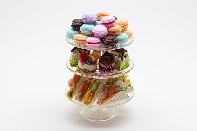 glass afternoon tea stand (a)