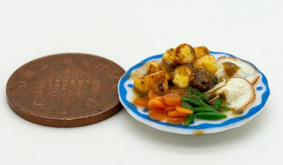 roast chicken dinner for one