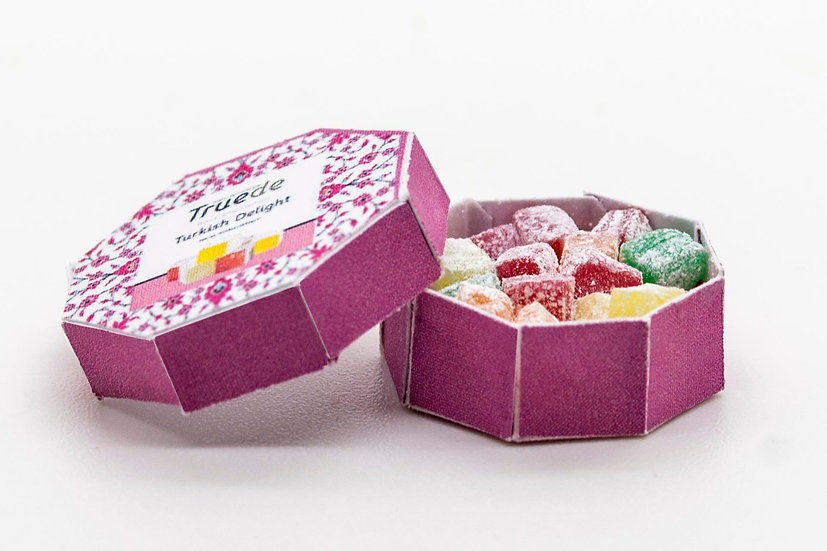 filled box of Turkish delight
