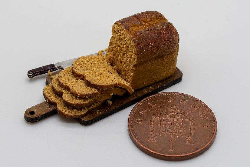 wheat sliced bread board