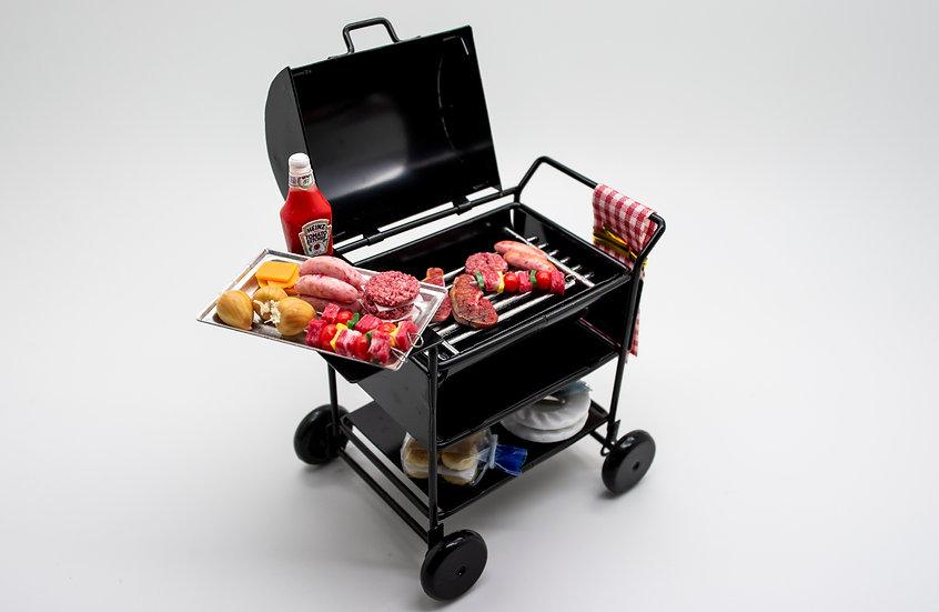 filled BBQ set