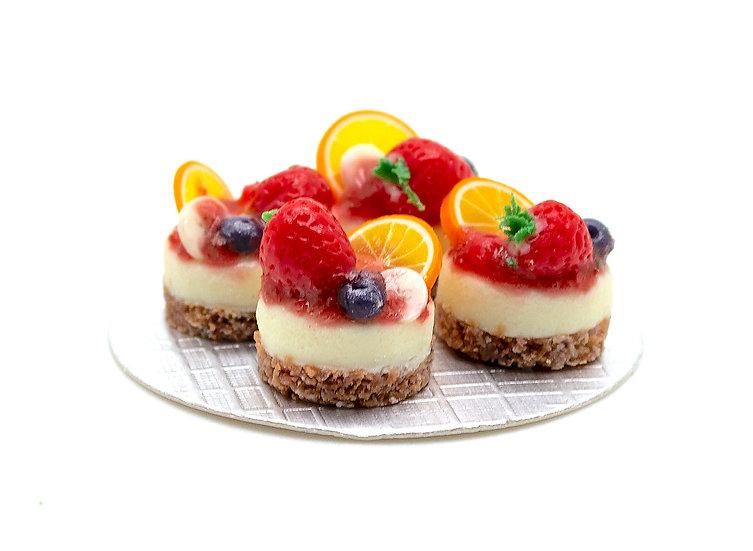 mini fruit cheese cakes