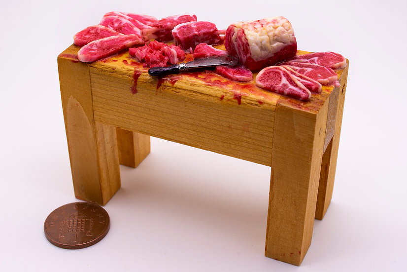 filled butchers block