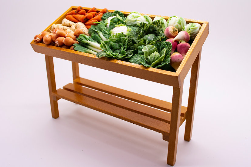 filled veg stand