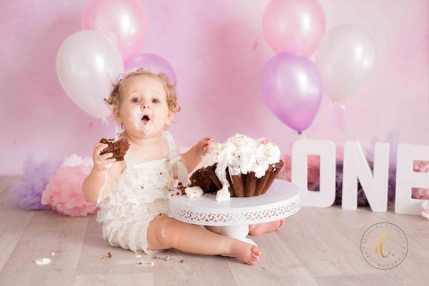 Premier Anniversaire - Smash the cake & bain