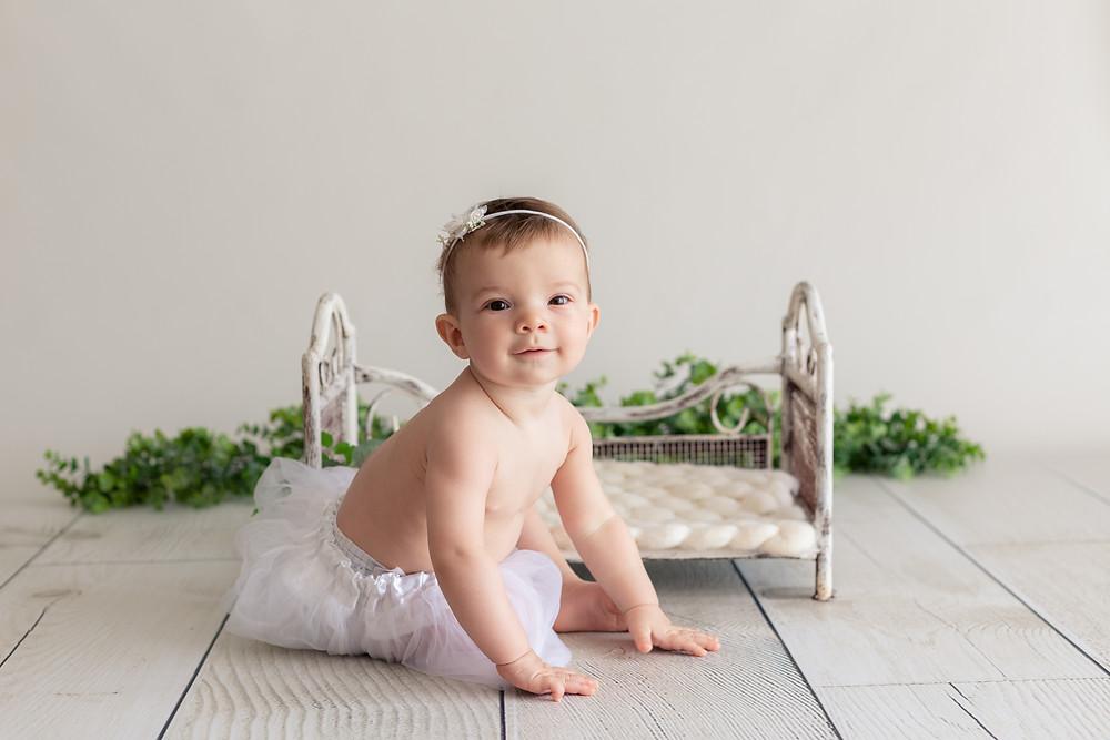 Séance photo bébé végétale à Beaune- Dijon