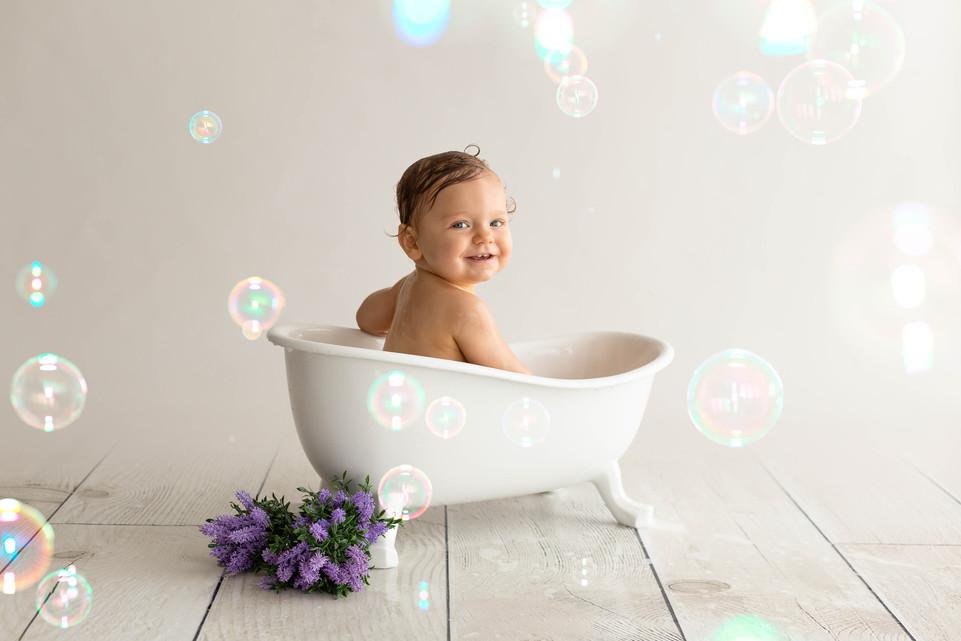 Séance bébé bain