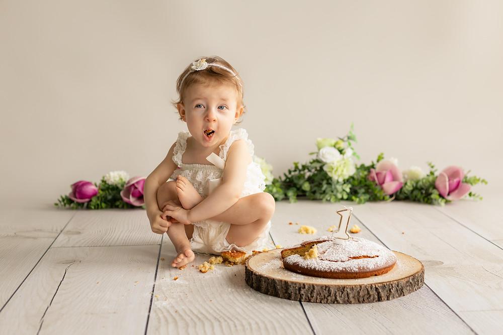 Photographe bébé -1 an- Smash the cake- Beaune-Dijon
