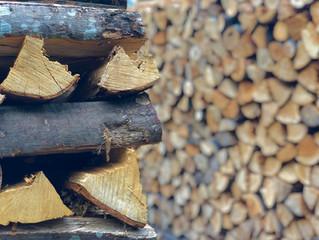 薪棚までキレイに並べます!