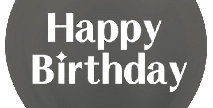 36 Inch Personalized Metallic Graphite Balloon