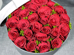 Red Roses Floral Box