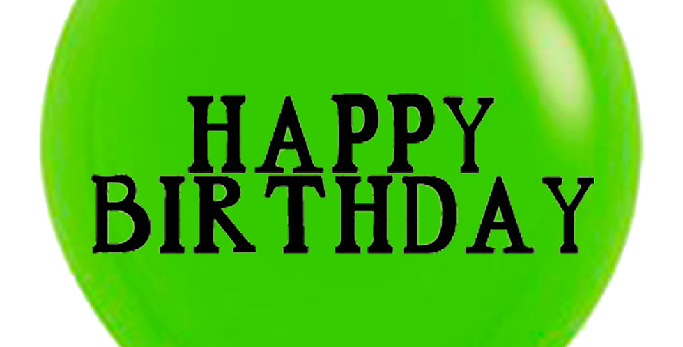 24 Inch Personalized Lime Green Balloon