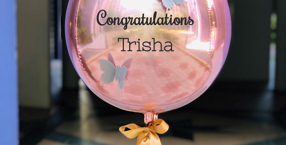 Personalized Rose Gold Orbz Balloon