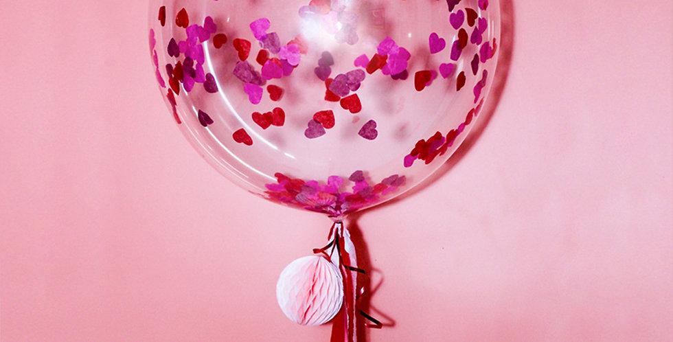 Valentine's Day Heart Shaped Confetti Balloon