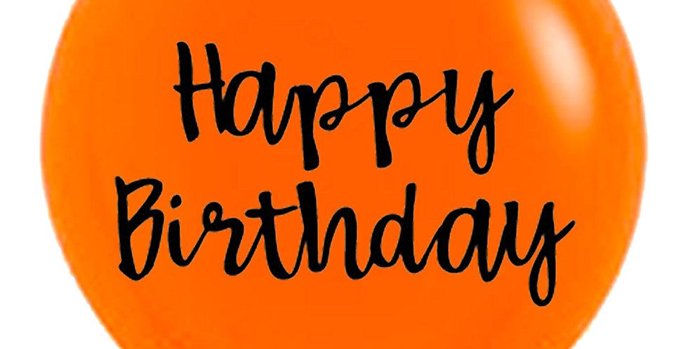 24 Inch Personalized Orange Balloon