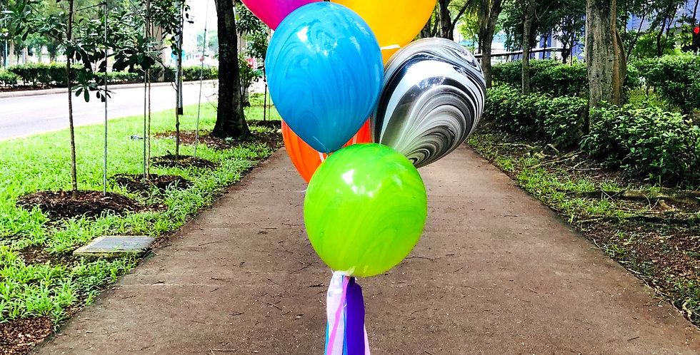 Full Marble Balloon Bouquet