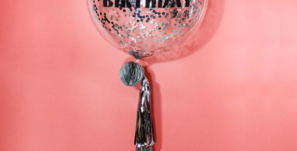 24 Inch Personalized Confetti balloon